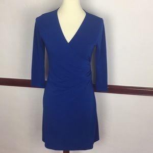 CHARMING CHARLIE WRAP DRESS SZ S NWT BLUE